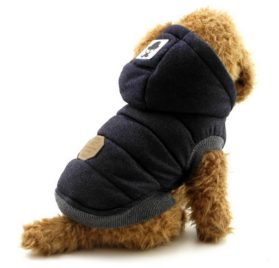 Ranphy Winter Padded Dog Vest Coat Hoodies Cat Puppy Cold Weather Coats Jacket for Small Dog Under 20lbs (It's Run Small, Take the Next two Size up Please)