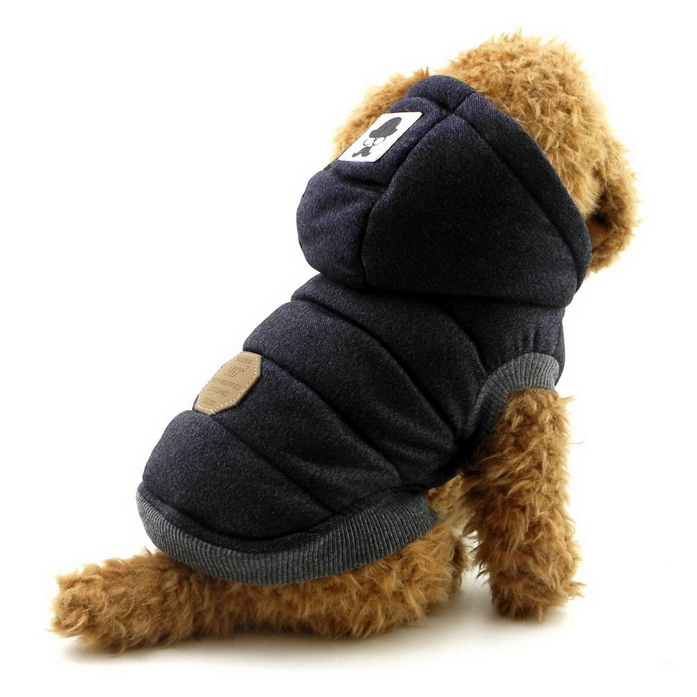 Ranphy Winter Padded Dog Vest Coat Hoodies Cat Puppy Cold