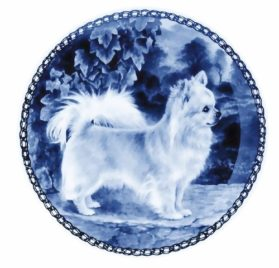 Chihuahua - Long Coat - Lekven Design Dog Plate 19.5 cm -7.61 inches Made in Denmark NEW with certificate of origin PLATE 7262