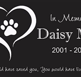 Custom Made Pet Stone Memorial Marker Granite Marker Dog Cat Horse Bird Human 6 X 10 Personalized Personalised Chow Chow Chihuahua 2