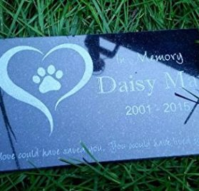 Custom Made Pet Stone Memorial Marker Granite Marker Dog Cat Horse Bird Human 6 X 10 Personalized Personalised Chow Chow Chihuahua
