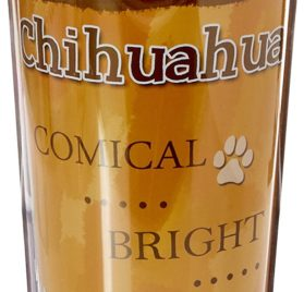 E&S Pets Stainless Steel Chihuahua Black Tumbler, 16 oz 2