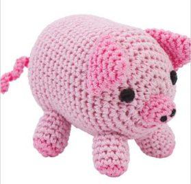 Knit Knacks Organic Crocheted Small Dog Toy