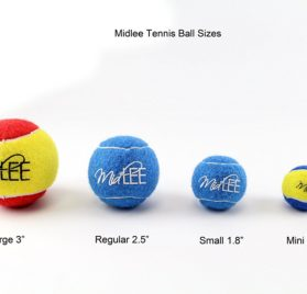 Mini Dog Tennis Balls 1.5 by Midlee 12-Pack 2
