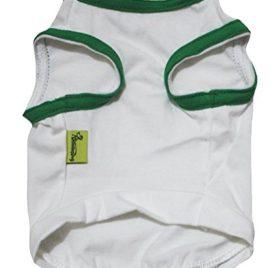 Petitebella Puppy Clothes Dog Dress Sequins Clover Green White Tee T Shirt 2