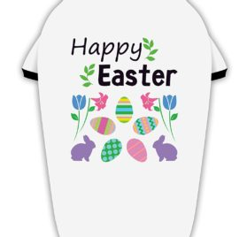 TooLoud Happy Easter Design Stylish Cotton Dog Shirt