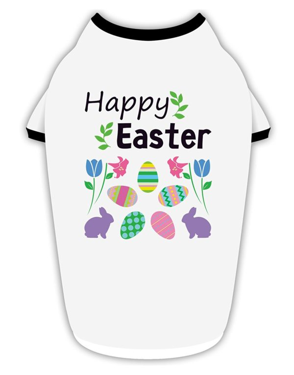 TooLoud Happy Easter Design Stylish Cotton Dog Shirt