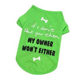 Wakeu Pet Shirt Small Dog Cat Clothes Puppy Vest T-Shirt Pet Summer Apparel Costume