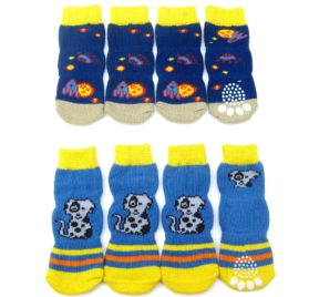 Alfie Pet by Petoga Couture - Mako 2 Set of 4 Dog Paw Protection Indoor Socks 2