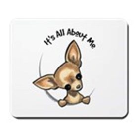 CafePress - Tan Chihuahua IAAM - Non-slip Rubber Mousepad, Gaming Mouse Pad