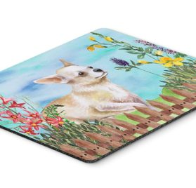 "Caroline's Treasures Chihuahua Leg up Spring Mouse Pad, Hot Pad or Trivet, 7.75"" x 9.25"", Multicolor (CK1259MP)"