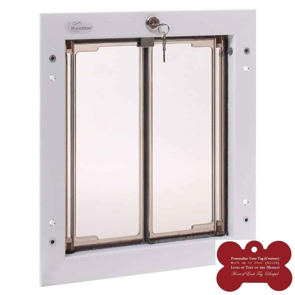 Plexidor Exterior Pet Door Small Medium Large X Large White Door