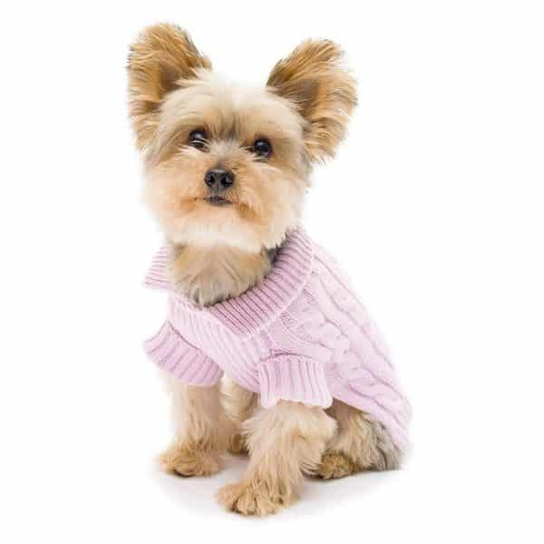Stinky G Lavender Aran Dog Sweater Size #08 XS
