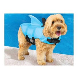 Swimways Sea Squirts Dog Life Vest w Fin for Doggie Swimming Safety