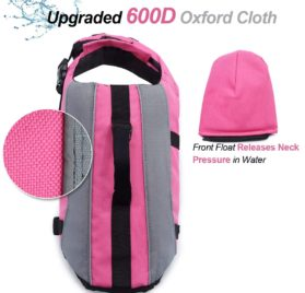 Vivaglory Dog Life Jackets with Extra Padding for Dogs, X-Small - Pink 2