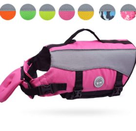 Vivaglory Dog Life Jackets with Extra Padding for Dogs, X-Small - Pink