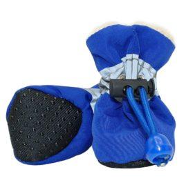 4pcs Pet Dog Waterproof Anti-slip Rain Snow Boots Footwear Puppy Cats Thick Warm Socks 2