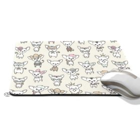 ALAZA Hipster Cute Cartoon Chihuahua Non-Slip Rubber Decorate Gaming Mouse Pad 9.84 x 7.48 inch 2