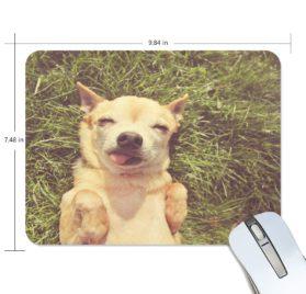 ALAZA Retro Cute Chihuahua in The Grass Non-Slip Rubber Decorate Gaming Mouse Pad 9.84 x 7.48 inch