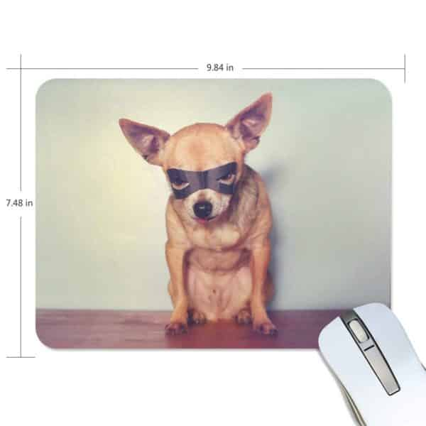 ALAZA Vintage Cool Chihuahua Dog Non-Slip Rubber Decorate Gaming Mouse Pad 9.84 x 7.48 inch