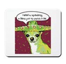 CafePress - Killer Chihuahua - Non-slip Rubber Mousepad, Gaming Mouse Pad