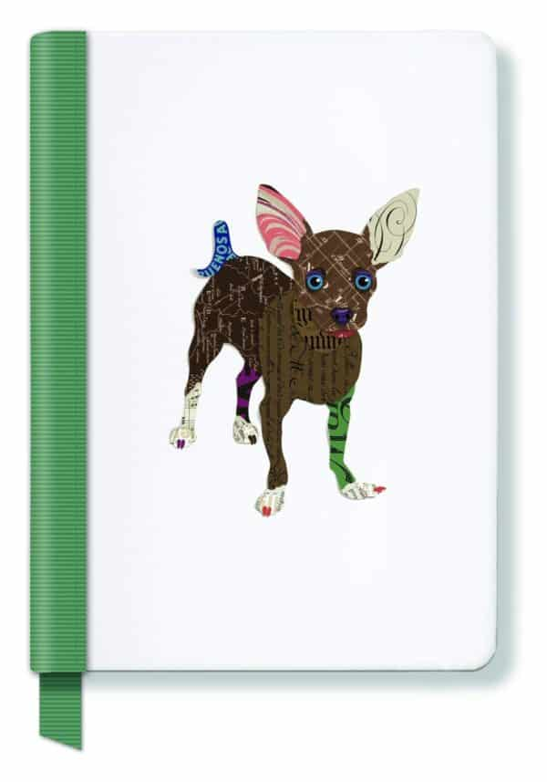 FRINGE STUDIO Chihuahua Hardcover Ribbon Journal, 6 x 8.25 Inches, 160 Lined Pages (988019)