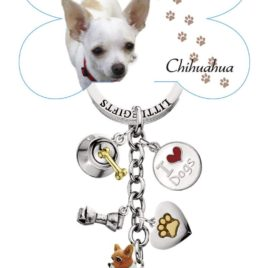 LittleGifts Hand Painted Chihuahua Keychain