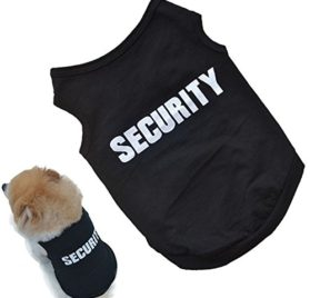 Outtop Cute Pets Small-sized Dogs T-shirt Vest Mr.[ Security] Guard