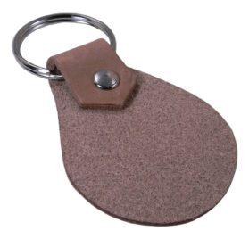 Personalized Engraved Chihuahua Heart Genuine Custom Leather 3-inch Customizable Keychain 2