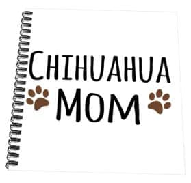 """3dRose db_154097_2 Chihuahua Dog Mom Doggie x Breed Brown Muddy Paw Prints Love Doggy Lover Proud Pet Owner Memory Book, 12"""" x 12"""""""