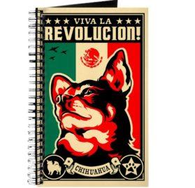 CafePress - CHIHUAHUA Viva La Revolucion - Spiral Bound Journal Notebook, Personal Diary, Dot Grid