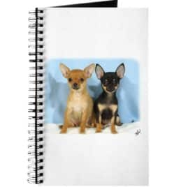 CafePress - Chihuahuas 9W079D-011 - Spiral Bound Journal Notebook, Personal Diary, Dot Grid