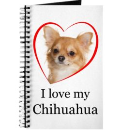 CafePress - Love My Chihuahua - Spiral Bound Journal Notebook, Personal Diary, Dot Grid