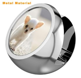Chihuahua Business Card Holders for Desk, Business Card Stand, Customized Stylish Office Business Card Display Metal 2