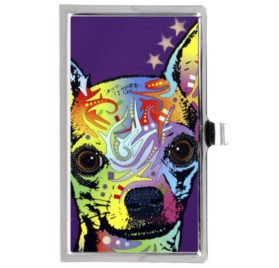 Chihuahua Custom Design Stainless Steel Business Card Name Holder Case