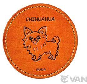Chihuahua Leather Dog Coaster VANCA Handmade in Japan