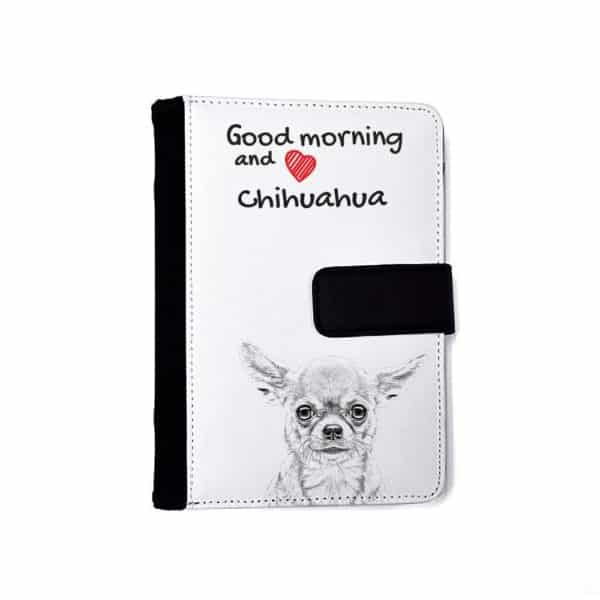 Chihuahua Notebook with the calendar of eco-leather with a dog