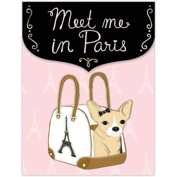 Chihuahua Paris Pocket Notepad by Punch Studio
