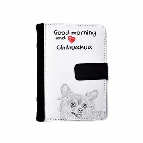 Chihuahua long haired Notebook with the calendar of eco-leather with a dog