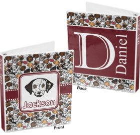 Dog Faces 3-Ring Binder (Personalized) 2