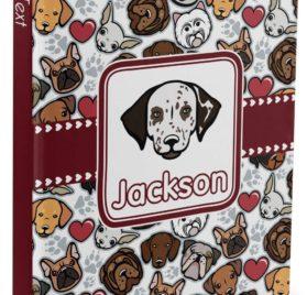 "Dog Faces Hardbound Journal - 5.75"" x 8"" (Personalized)"