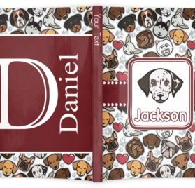 """Dog Faces Softbound Notebook - 5.75"""" x 8"""" (Personalized) 2"""