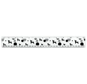 Chihuahua 12 Inch Standard and Metric Plastic Ruler 2
