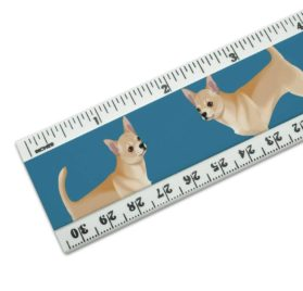 Chihuahua Dog Pet Drawing 12 inch Standard and Metric Plastic Ruler 2