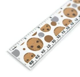 Chihuahua Face Close up Dog Pet 12 Inch Standard and Metric Plastic Ruler