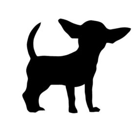 Pack of 3 Chihuahua Style 4 Stencils, 16x20, 11x14 and 8x10 Made from 4 Ply Matboard
