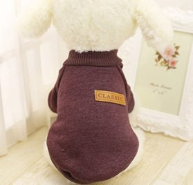 Embiofuels(TM) XS-2XL Winter Warm Dog Clothes Puppy Jacket Coat Soft Dog Shirts Solid Color Puppy Sweater For Chihuahua Yorkie