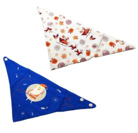 FUNPET 2 Pcs Christmas Dog Bandana Triangle Bibs Scarfs Accessories for Small Pet Cats and Puppies 2