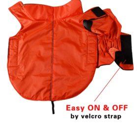 JoyDaog Fleece Lined Warm Dog Jacket for Winter Outdoor Waterproof Reflective Dog Coat 2