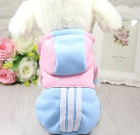 Mummumi Small Pet Dog Winter Clothes, Puppy Warm Autumn Sportswear Hoodies Outwear Cat Windproof Sweater T-shirt With a Hat For Small Dog 2